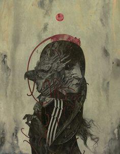 """"""" Harpia """" Acrylic on Fabriano 31,5 x 24,5 cm"""