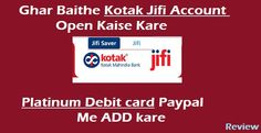 kotak jifi account open