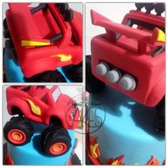 Blaze mega machine tutorial - CakesDecor
