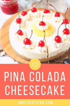 Pina Colada Cheesecake is the perfect summer dessert. It features all the great flavors of the classic cocktail but it's something everyone can enjoy! No Bake Cheescake Recipe, Pina Colada Cheesecake Recipe, Summer Cheesecake, Pina Colada Cake, Homemade Cheesecake, Classic Cheesecake, Summer Desserts, No Bake Desserts, Easy Desserts