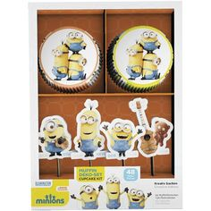 minions cupcake pakket, minions traktatie
