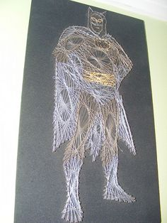 String Art Batman!!!!  @Amanda Snelson Snelson Snelson Mauck
