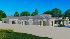 4 Bedroom House Plan - My Building Plans South Africa My House Plans, 4 Bedroom House Plans, My Building, Building Plans, Architect Fees, House Plans South Africa, Construction Drawings, Open Plan, Windows And Doors
