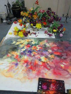 adelaparvu.com despre casa atelier a pictoriteti Yuko Nagayama, artist acuarela (28)