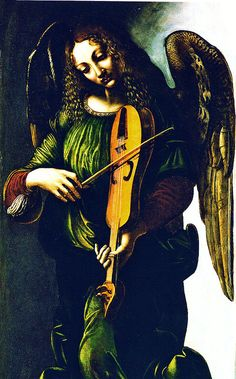 File:Predis, Giovanni Ambrogio de — Angel in green with a vielle, part of S. Francesco altarpiece, Milan (bust) — 1490s.jpg - Wikimedia Commons