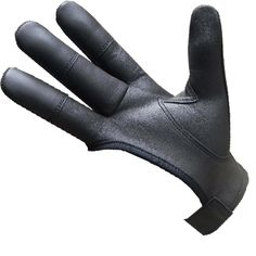 Lamb Skin shooting glove I got from London, England I use at times for my archery with the Mongolian Draw, with ring worn inside the glove. Works well for me.