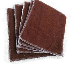 "Customize Dual sided Terry Cloth/Flannel Reusable Wipes (""6.5 X ""8). Made to Order"