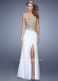 La Femme 21437 Embroidered Chiffon Dress