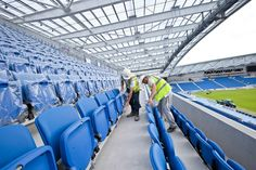 @OfficialBHAFC  #extraseats East Stand upper tier seats are unwrapped ahead of tonights opening home match of the season #BHAFC