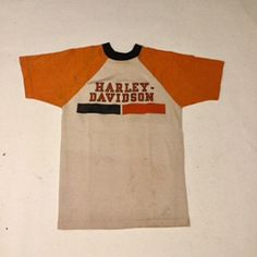 281ff3ed5 Items similar to Vintage Harley Davidson Champion Blue Bar Rayon Tee Shirt  70's Made in USA (os-ts-71) on Etsy