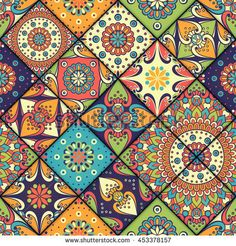 Find Seamless Pattern Vintage Decorative Elements Hand stock images in HD and millions of other royalty-free stock photos, illustrations and vectors in the Shutterstock collection. Batik Pattern, Pattern Art, Indian Patterns, Vintage Patterns, Tile Art, Tiles, Islamic Art Pattern, Printable Designs, Mosaic Patterns
