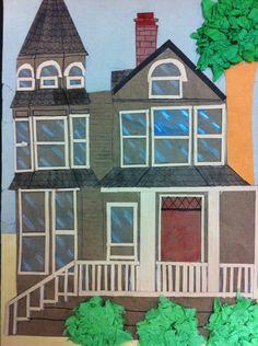 5th grade architecture collage lesson