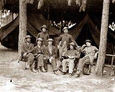U.S. military telegraph operators in front of Petersburg, Virginia