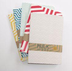 A5 Geometric/Chevron Print Eco Notebooks by MULK by MULKLOVES  #timetostudy #backtoschool