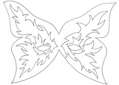 Butterfly Mask Template Mask template Mardi gras and Masking