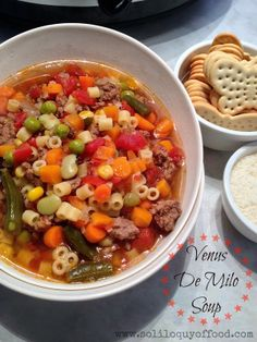 Venus De Milo Soup - www.soliloquyoffood.com #VenusDeMilo #soup #Crockpot