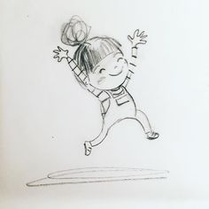 When I left work this evening…. When I left work this evening…. Doodle Drawings, Cartoon Drawings, Doodle Art, Easy Drawings, Children's Book Illustration, Character Illustration, Watercolor Illustration, Card Drawing, Painting & Drawing