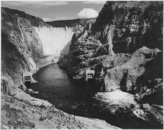 Ansel Adams photo of Hoover Dam, Black Canyon, Colorado River, Arizona & Nevada. Ansel Adams Photography, Nature Photography, White Photography, Minimalist Photography, Monochrome Photography, Urban Photography, Color Photography, Film Photography, Creative Photography