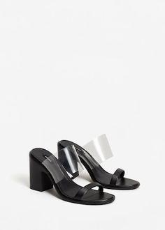 Sandalen mit transparenten riemen -  Damen | MANGO Österreich