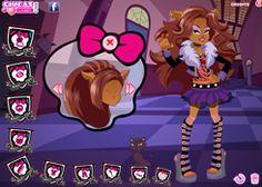 Juegos de Vestir a las Monster High: Clawdeen Wolf te dejará que la ayudes a vestirse, de momento, hija del Hombre Lobo. Tiene estilo
