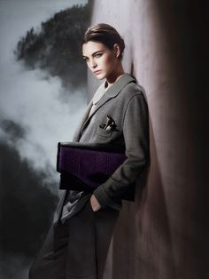 Italian fashion house Giorgio Armani has released a look at its fall-winter 2015 campaign. The images, photographed by Sølve Sundsbø, feature rising star Vittoria Ceretti.