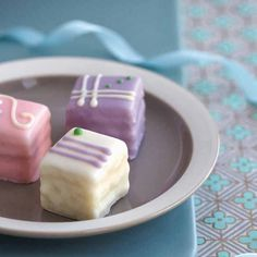 Recipe included A Little Loveliness: All-Occasion Petit Fours Recipe Mini Desserts, Just Desserts, Delicious Desserts, Yummy Food, Cupcakes, Cupcake Cakes, Eclairs, Petit Cake, Cake Recipes