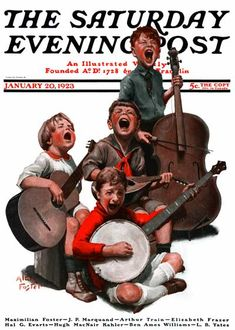 """""""String Quartet"""" from January 20, 1923 by Alan Foster, Saturday Evening Post."""