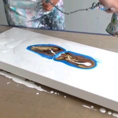 (Part Acrylic Pouring – Large Fluid Painting – abstract art This is the second acrylic painting of this triptych. Wouter (my boyfriend) wanted. Acrylic Pouring Art, Acrylic Art, Pour Painting, Diy Painting, Knife Painting, China Painting, Diy Art, Metallic Colors, Metallic Paint