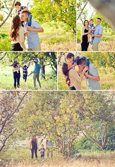I like the one where the boy is bent over kissng the mom :) So cute! Family Photos #Family #Photos #phot