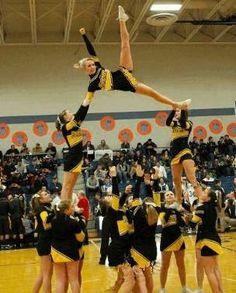 Cheerleading Quotes for Flyers | Cheerleading Stunt Photo Panther Valley Varsity Cheerleaders