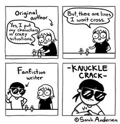 Portion of Sarah Andersen comics to make your day a bit better - The Designest True Memes, Stupid Funny Memes, Sarah Anderson Comics, Sarah's Scribbles, Fanfiction Writer, 4 Panel Life, Writing Memes, Funny Comic Strips, Online Comics