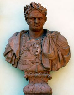 Bust of Titus on the garden facade of the Wilanów Palace by Bartholomeus Eggers, 1680s, commissioned by John III Sobieski