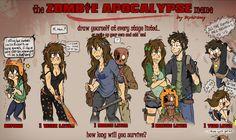 Zombie Apocalypse Meme by *AruLuvr3 on deviantART
