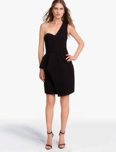 HALSTON HERITAGE Laser Cut Crepe Dress Black #HALSTONHERITAGE #Dresses