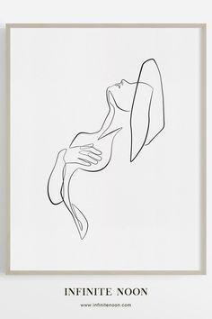 Minimal exotic nude woman illustration wall art, one line abstract line art, Fem. - Minimal exotic nude woman illustration wall art, one line abstract line art, Female body sketch ink - Body Sketches, Art Drawings Sketches, Sketch Ink, Simple Sketches, Simple Line Drawings, Character Sketches, Line Art Flowers, Flower Art, Drawing Flowers