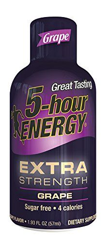 5 Hour Energy Drink Shot, Extra Strength Grape, 4 Count *** Be sure to check out this awesome product.