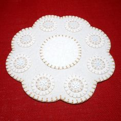 Snowflake Design Winter/Christmas Penny Rug 11.5 by maryimp, $40.00