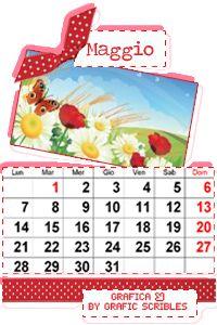 Calendario mese Maggio, Free Download