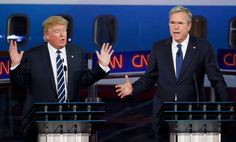 Jeb Bush puts Donald Trump on defense, then lets him off easy Tune in to watch Yahoo Global News Anchor Katie Couric host a postdebate panel discussion featuring GOP strategist Leslie Sanchez, Washington Post assistant editor David Swerdlick and Yahoo News' Matt Bai and Jon Ward. They will break down