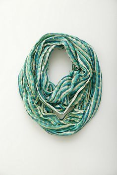 aqua hues, touch of gold  Gingham Checks Loop #anthropologie