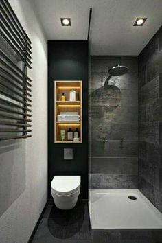 Bathroom renovation ideas / bar - Find and save ideas about bathroom design Ideas on 65 Most Popular Small Bathroom Remodel Ideas on a Budget in 2018 This beautiful look was created with cool colors, marble tile and a change of layout. Bathroom Design Small, Bathroom Interior Design, Kitchen Design, Bath Design, Simple Bathroom, Toilet Design, Minimal Bathroom, Kitchen Ideas, Small Bathroom Remodeling