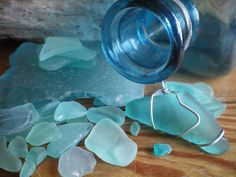 Sea glass/ blue  http://www.ashorething.me/collection.html