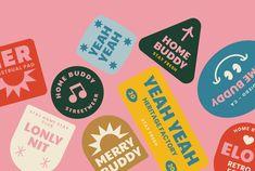Graphic Design Branding, Graphic Design Posters, Logo Design, Creative Logo, Creative Words, Logo Sticker, Sticker Design, Summer Logo, Brand Stickers