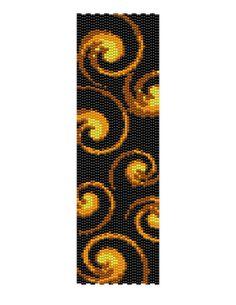 Swirls - Peyote Bead Bracelet Cuff Pattern