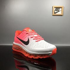 save off 65fb3 05b10 Factory Nike Air Max 2017 Leather White Pink Black Logo Sports Shoes Shop  Online -  69.88