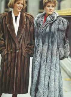 I really like the one on the left.  mink & silver fox fur coats