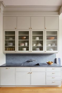 Pietra Cardosa Stone A House United: Reimagining a Brooklyn Brownstone - Remodelista Kitchen Cabinets Measurements, Installing Kitchen Cabinets, Diy Kitchen Cabinets, Kitchen Storage, Classic Kitchen, New Kitchen, Kitchen Interior, Kitchen Wood, Brooklyn Brownstone