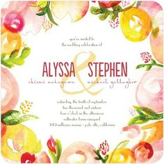 Summer wedding invite