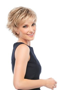 "Jazz Monofilament Wig This version of this short pixie wig is designed with monofilament cap construction, providing maximum comfort all day long, as well as the ability to part your hair wherever you'd like. Jazz is a playful shag style with flipped out layers for a totally natural and carefree look! Length B 4.5"" C 5"" S 3.75"" N 2.75"" SKU 5376 Collection Mono Top Color Shown 6F27 Cap Construction Monofilament Cap Size Average Hair Type Synthetic Weight 2.1 oz"