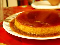 Imagine this, just you and this defenseless Leche Flan...marooned in a deserted island.